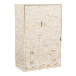 Maitland Smith Deigned Stone Veneered Cabinet For Sale