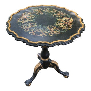 Ball & Claw Foot Tilt Top Occasional Table For Sale