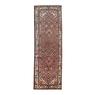 Persian Hand Knotted Wool Rug - 3′7″ × 10′4″
