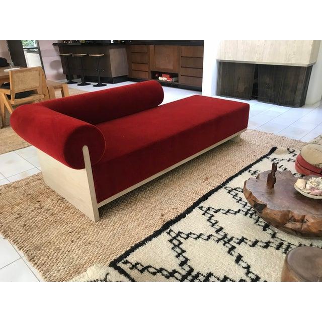 Modern Velvet Chaise Sofa - Image 7 of 7