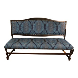1960s Vintage Traditional Style Bench For Sale