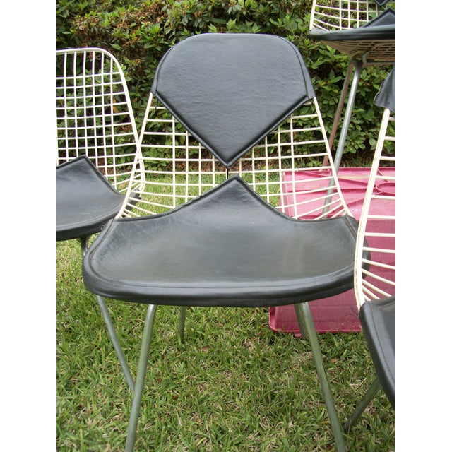 Metal Mid-Century Modern Eames for Herman Miller Bikini Wire Chairs - Set of 6 For Sale - Image 7 of 11
