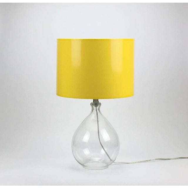 High Gloss Drum Lamp Shade Made To Order: 1-2 week lead time Individually hand-made Color: Exterior Color: Yellow (RAL...