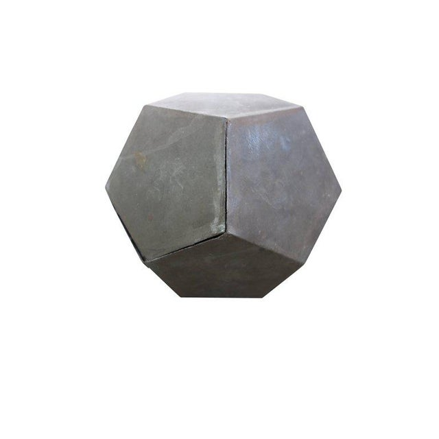 1920s Zinc Geometric Forms - Set of Four For Sale - Image 10 of 10