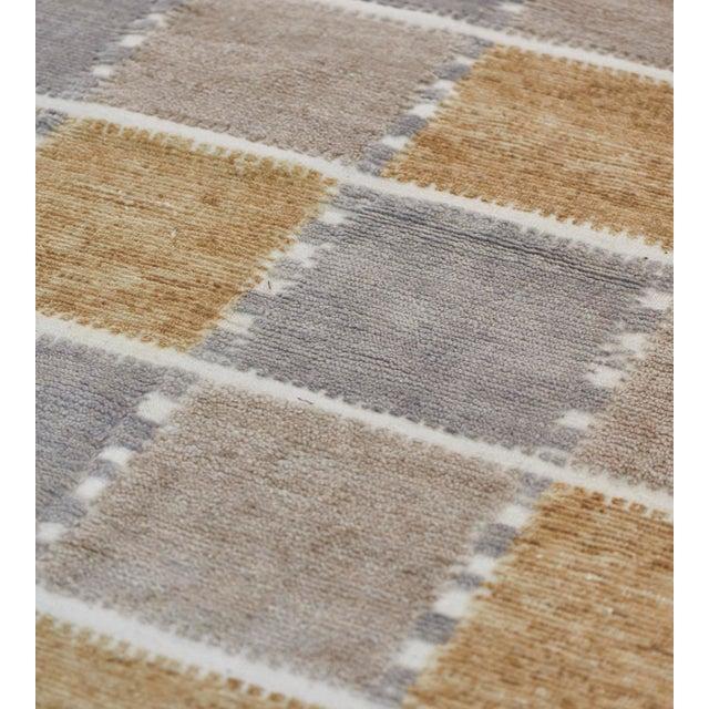 Handwoven Swedish Inspired Flatweave Wool Rug For Sale In Los Angeles - Image 6 of 8
