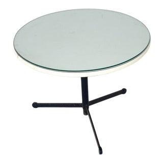 Vintage Mid Century Round Tripod Adjustable Table, Circa 1950s For Sale
