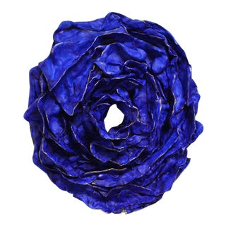 "Abstract Original ""Blue Rose for Tennessee"" Sculpture by Atticus Adams For Sale"