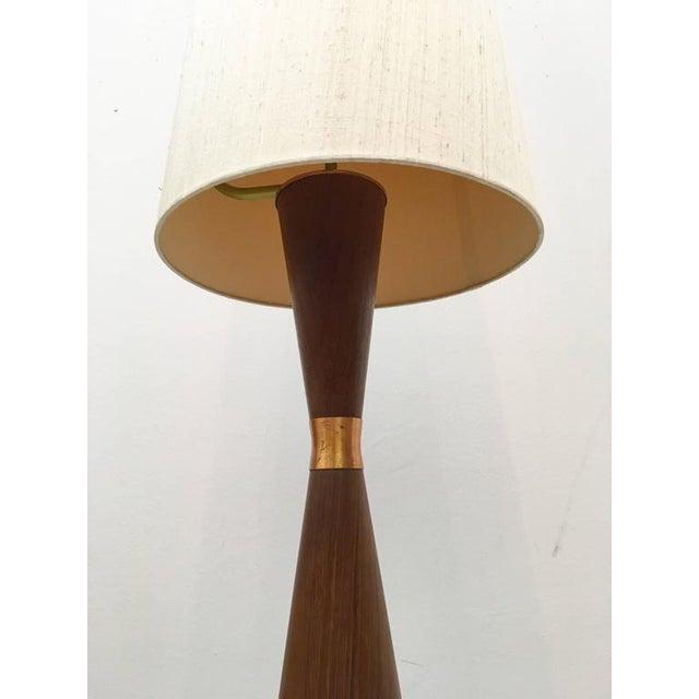 Mid-Century Danish Teak Floor Lamp For Sale - Image 6 of 7