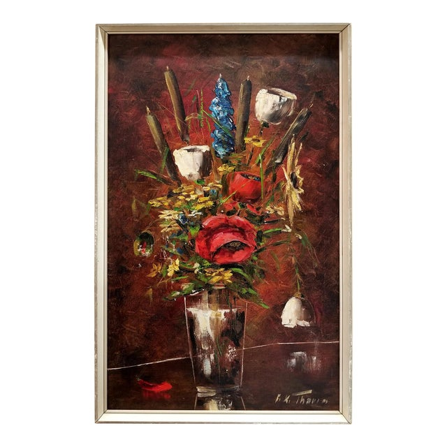 F.K. Thauer Floral Still Life Oil Painting - Image 1 of 10