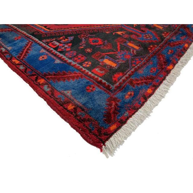 "Boho Chic Vintage Persian Hamadan Rug - 4'4"" X 7'7"" For Sale - Image 3 of 3"
