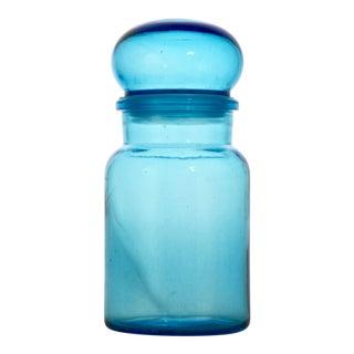 "Belgian 9"" Teal Blue Bubble Lid Bottle For Sale"