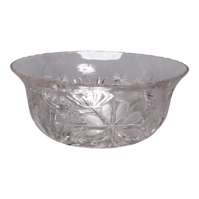 Antique Brilliant Cut Glass Serving Bowl 20th Century Chairish