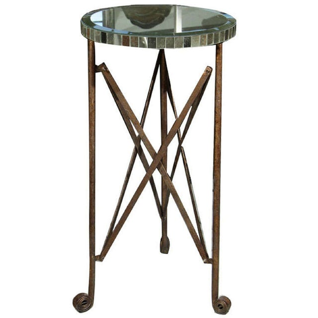 Mirror Top Metal Stand For Sale In New York - Image 6 of 6