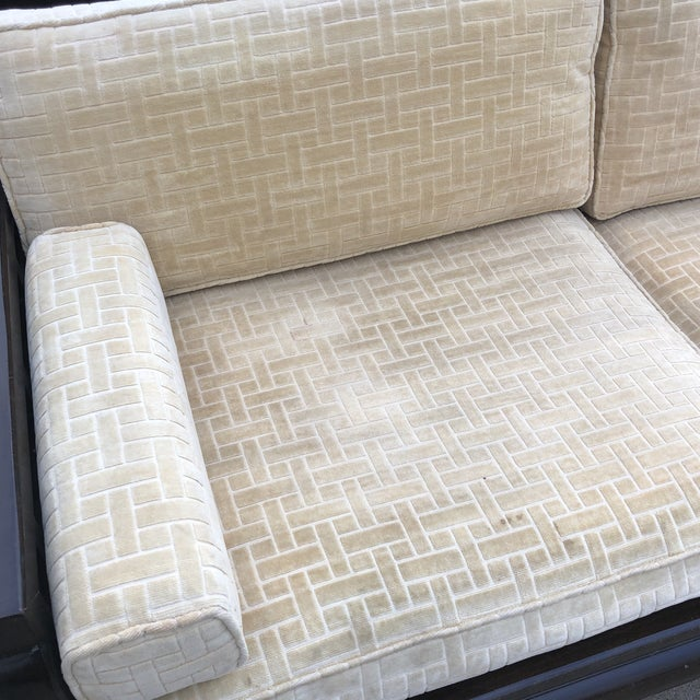 Lamont Ming Chinoiserie Solid Wood Loveseat Sofa** For Sale - Image 4 of 7