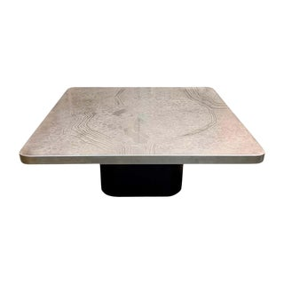 1970s Mid-Century Modern Etched Heinz Lilienthal Coffee Table For Sale