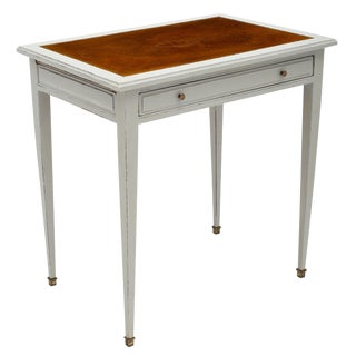 1900s Painted French Antique Writing Desk For Sale