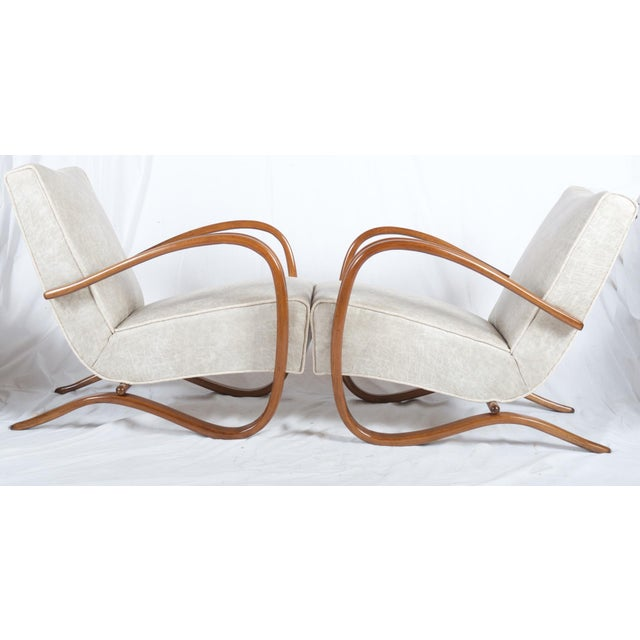 H269 Lounge Chair by Jindrich Halabala for Thonet, 1930s - A Pair For Sale - Image 9 of 11