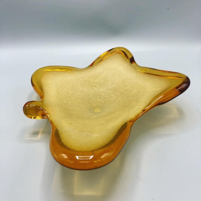 Murano 1960's Mid Century Italian Hand Blown Ashtray Sign by Murano For Sale - Image 4 of 9