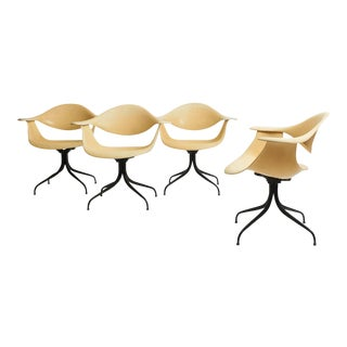 George Nelson, Limited Edition Daf Swag Leg Dining Chairs For Sale