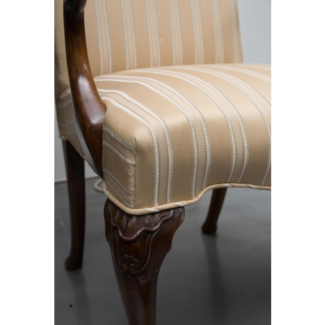 19th Century Fine Set of Eight Walnut Queen Anne Style Dining Chairs For Sale In West Palm - Image 6 of 7