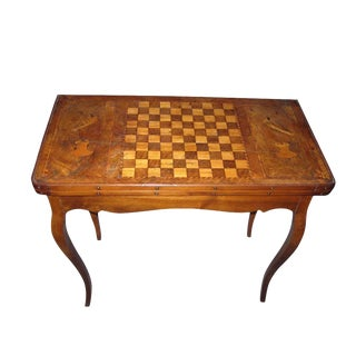 1900s French XIII Wood Chess Board For Sale