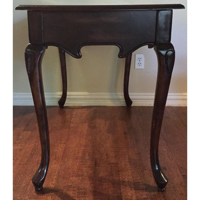 Antique Leather Inlaid Desk - Image 4 of 6