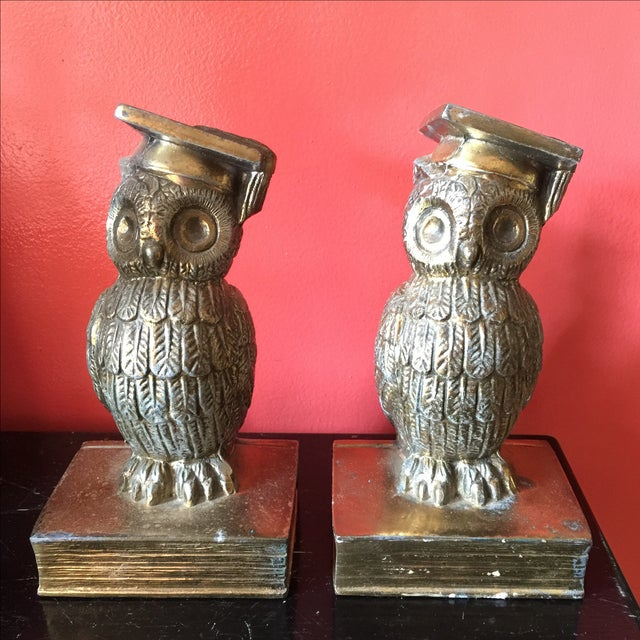 Colonial Virginia Brass Owl Bookends - Pair - Image 2 of 6