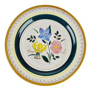 "12"" Stangl Terra Rose Garden Flower Dinner Plate For Sale"