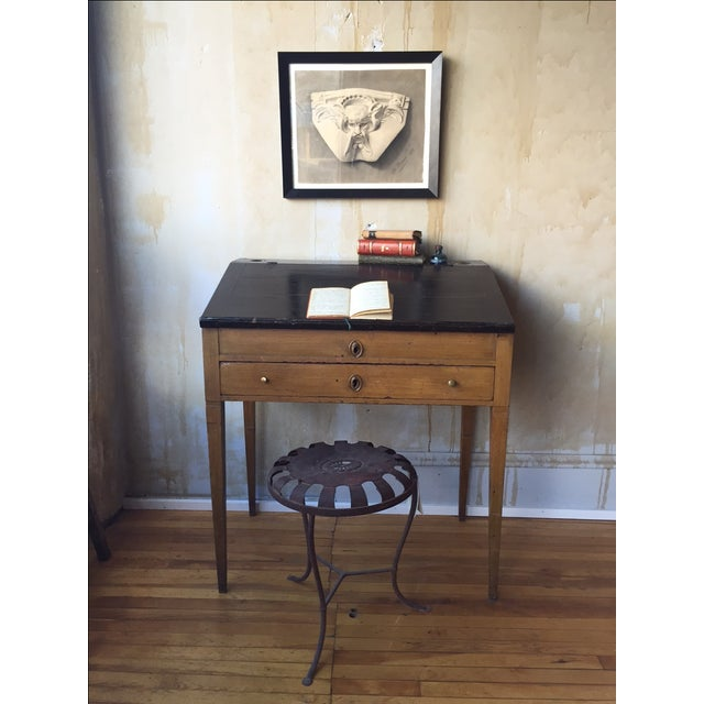Small Italian Antique Writing Desk For Sale - Image 5 of 8