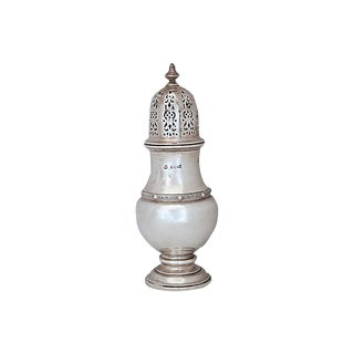 English Sterling Silver Powdered Sugar Shaker For Sale