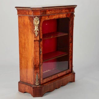 French Burl Wood Pier Cabinet with Ormolu Mounts Preview