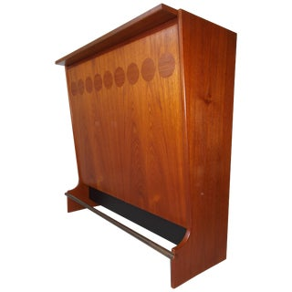 1960s Johannes Andersen Danish Modern Teak Bar For Sale