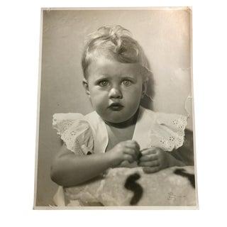 1950s Vintage Baby Portrait Photograph For Sale