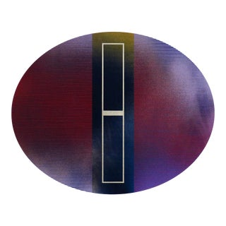 """""""Mångata 48 Oval"""" Contemporary Minimalist Mixed-Media Painting For Sale"""