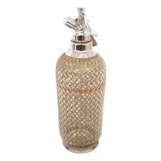 Vintage Metal Wrapped Seltzer Bottle