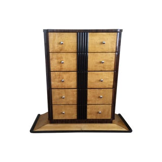 1920s Art Deco Zebra Wood Dresser For Sale