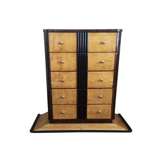 1920s Art Deco Zebra Wood Dresser - Image 1 of 7