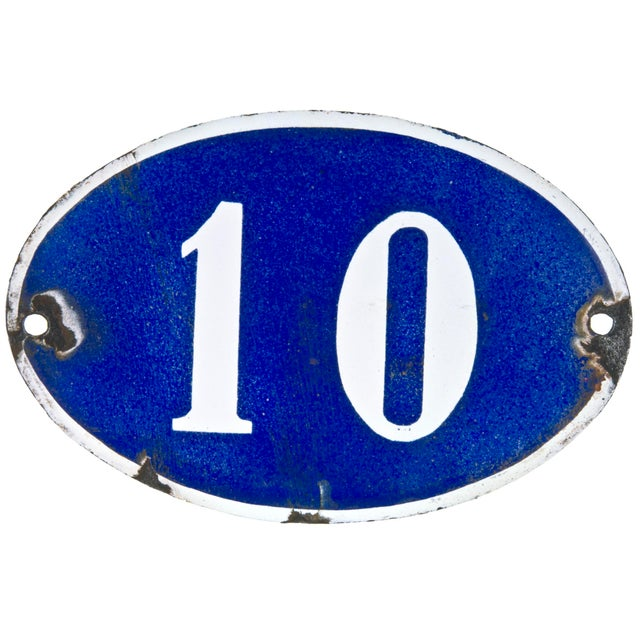 French Oval House Number 10 - Image 1 of 2