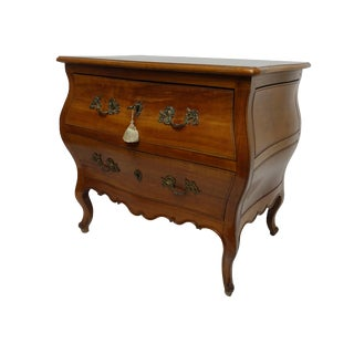 Rococo Bombe Two-Drawer Chest Commode French For Sale