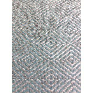 Aqua Harlequin Remnant Fabric For Sale