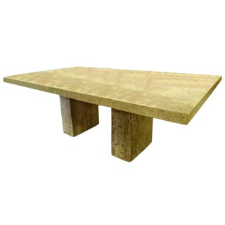 Marble Dining Table for Robb & Stucky For Sale