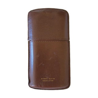 Perry Ellis Leather Cigar Case