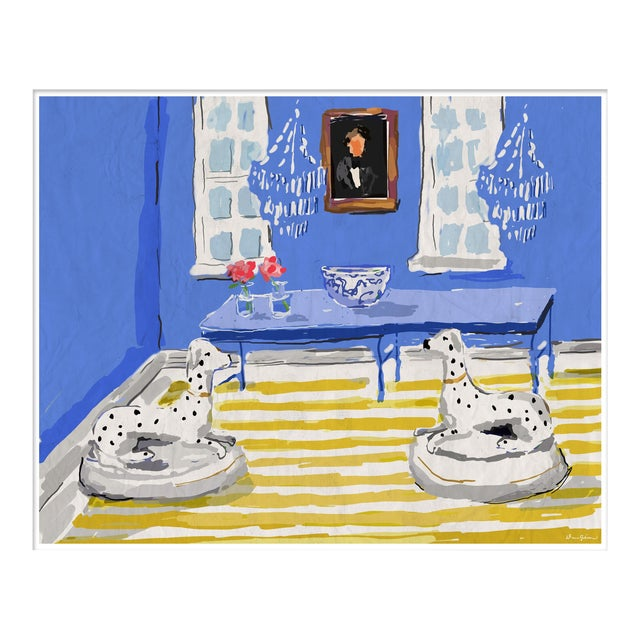 """Blue Dog"" By Dana Gibson, Framed Art Print For Sale"