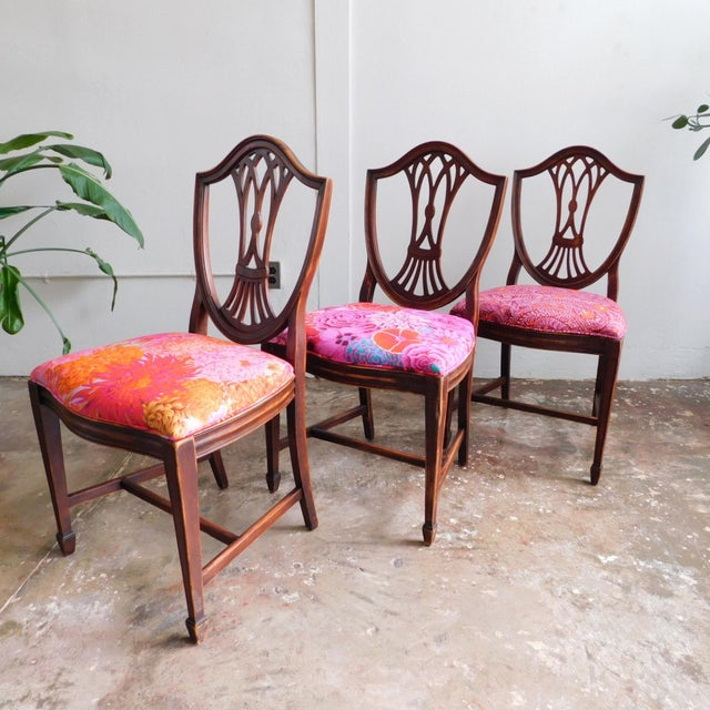 1950s Kaffe Print Dining Chairs - Set of 6 For Sale - Image 4 of 5