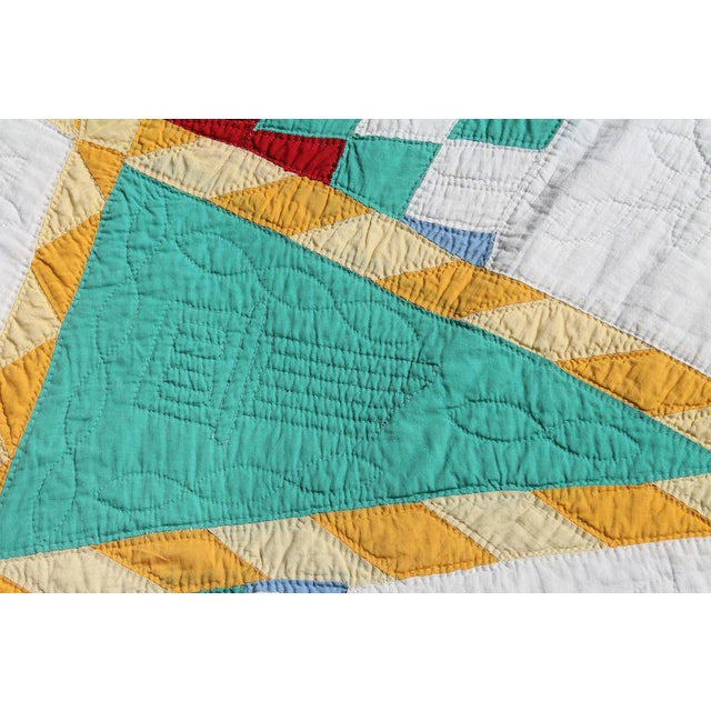 Antique Northeastern Star Quilt For Sale - Image 4 of 11