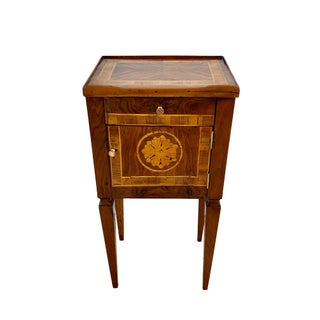 18th Century Italian Walnut Side Table Floral Inlay Preview
