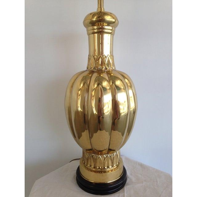 Marbro Large Mid-Century Polished Brass Lamp - Image 5 of 7