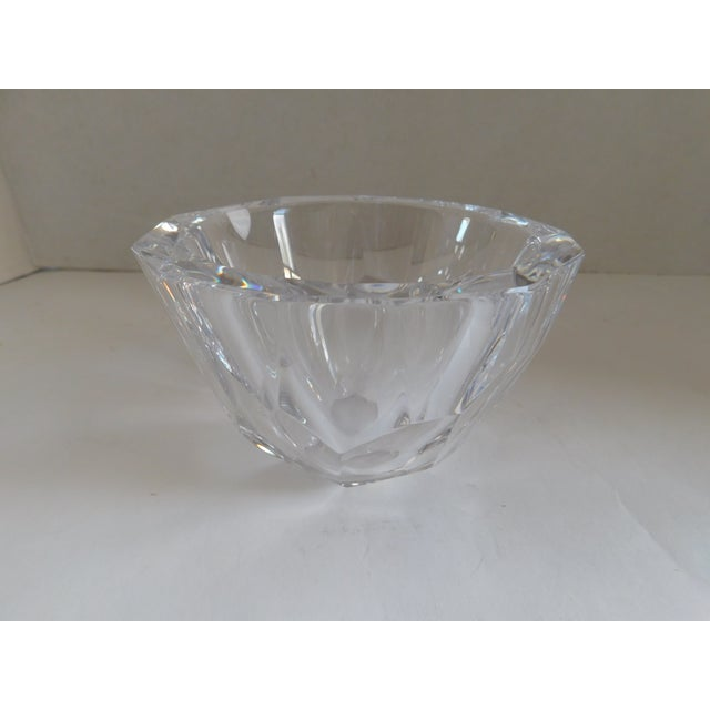 This beautiful heavy vintage Orrefors crystal bowl would add the perfect touch of glam to your holiday gatherings. This...