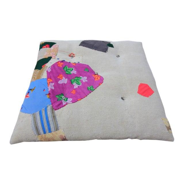 Vintage Turkish Hemp Floor Pillow - Image 1 of 5