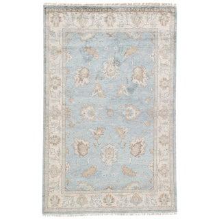 Jaipur Living Geneva Hand-Knotted Floral Light Blue/ Ivory Area Rug - 5′ × 8′ For Sale